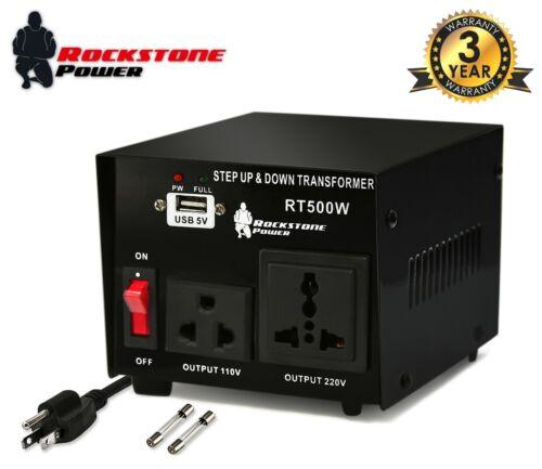 500 Watt Voltage Converter Transformer Step Up/Down 110V/120V/220V/240V Power