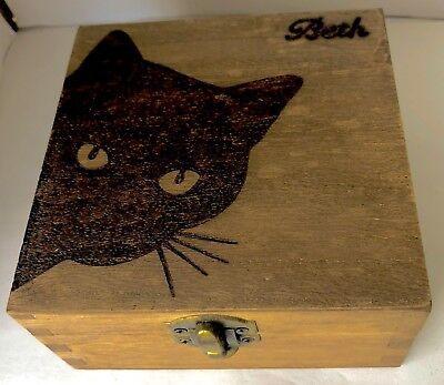 Cat Pet Lover Keepsake Memory Box Kitty Kitten Home Decoration Gift Cat Lady  ()