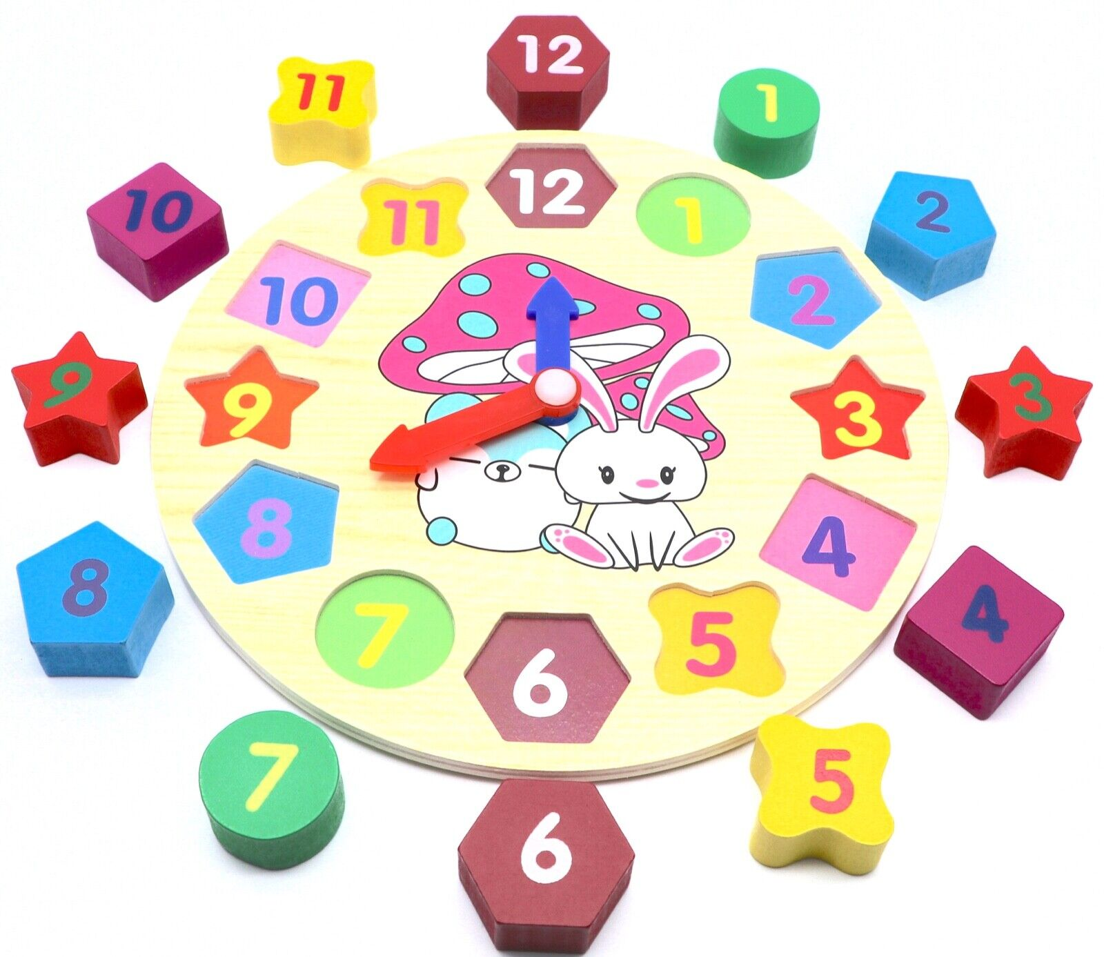 educational learning sorting clock puzzle toy