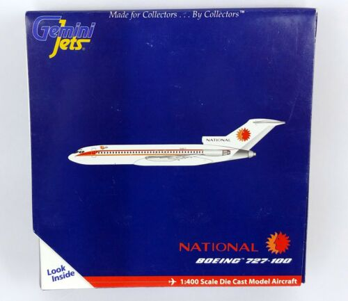 Gemini Jets National Airlines Boeing 727-100 Diecast Model 1:400 Airplane 2009