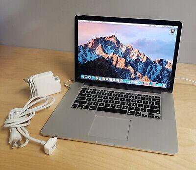 "MacBook Pro Retina 15"", 2015, i7 CPU @ 2.50 GHz, 16gb 1600 MHz, APPLE SSD 512gb"