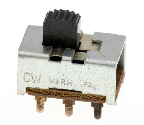 Lot of 10 CW GF-126-0018 DPDT Standard Slide Switch 0.5 A @ 125 VAC-VDC NOS