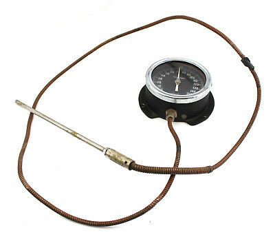 Antique Weksler Dial Temperature Gauge 9.5 Probe Sensor Thermometer Fahrenheit