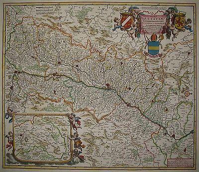 Utriusque Alsatiae Landgraviatus - Elsaß - Landkarte von Frederick de Wit - 1690