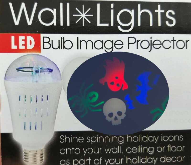 Halloween Party Light Bulb Projects & Spins Spooky Images on any surface Spider