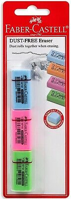 Faber-castell Eraser Colours Dust Free 3 Pcs In A Blister Card