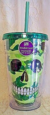Cool Gear Halloween Tumblers ( Cool Gear Tumbler Green Camouflage Skull 18 oz Insulated Travel Cup)