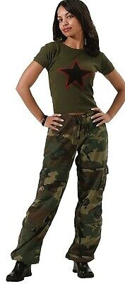 Womens Military Camo Fatigue Pants Woodland Camouflage Rothc