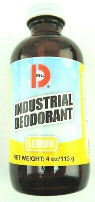Big D 320 Industrial Deodorant, Lemon Fragrance, 4 oz Bottle