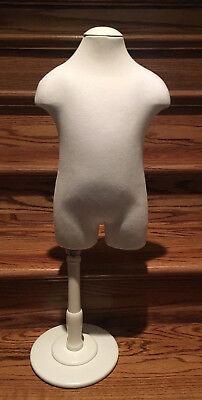 Rare Highest Quality Child Mannequin Wood Stand Adjustable Torso France