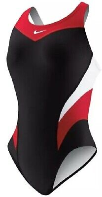 NIKE NX competition One Piece Swimsuit 14 L Red White Black Women's (Women's Competition Swimwear)
