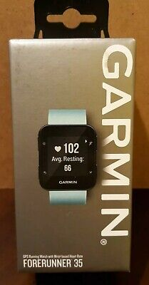 GARMIN Forerunner 35 - GPS Running Watch with Wrist-basee Heart Rate -Frost Blue