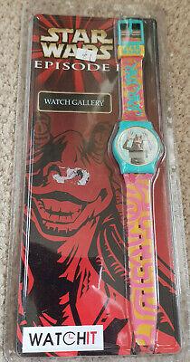 Star Wars Jar Jar Binks Ep1 Watch Gallery Watchit Watch- New and Sealed