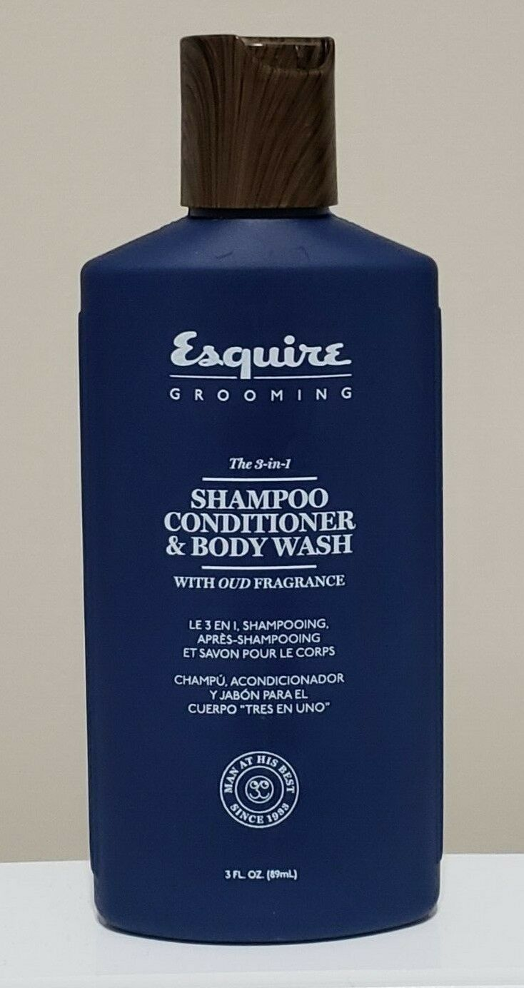 "ESQUIRE GROOMING ""THE 3-IN-1"" MENS SHAMPOO, CONDITIONER, & B"