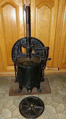 Antique Cast Iron Enterprise Sausage Stuffer Press Fruit Cider.