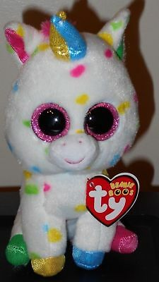 "Ty Beanie Boos ~ HARMONIE the 6"" Unicorn ~ Stuffed Toy ~ 2018 BRAND NEW ~IN HAND"