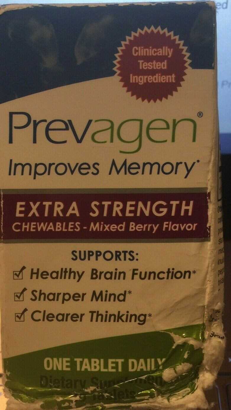 Prevagen Extra Strength Chewables Mixed Berry Flavor 30 tabl