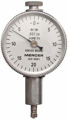 Brown Sharpe Tesa Mercer Dial Gauge Indicator Metric M2.5 Thread 8mm Stem D