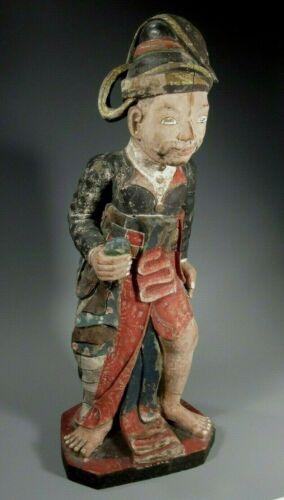 Burma Burmese Polychrome Teak Wood Statue of Shansawbwa ca. 20th c.