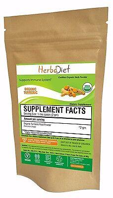 Turmeric Organic Root Powder 100% PURE Curcuma Longa Non-GMO