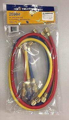 Yellow Jacket 48 Plus Ii 14 Ryb 3pk Hoses W Flexflow Vlv 25984