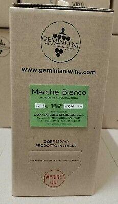 Weinglas Weiß Marken Igt 2019 Bag IN Box 5 Liter Geminiani - Gemibox