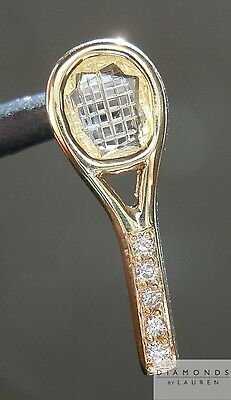 .24ct W-X Tennis Racket Rose Cut Diamond Pendant R4936 Diamonds By Lauren