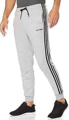 adidas Essentials 3 Stripe Mens Joggers - Grey