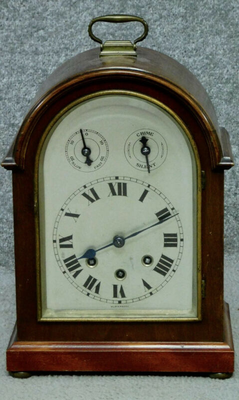 Antique Junghans Wurtttemberg Westminster Chime Mahogany Cased Bracket Clock