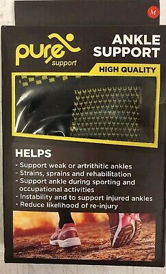 PURE SUPPORT Ankle Brace Sleeves with Best Compression Size Medium