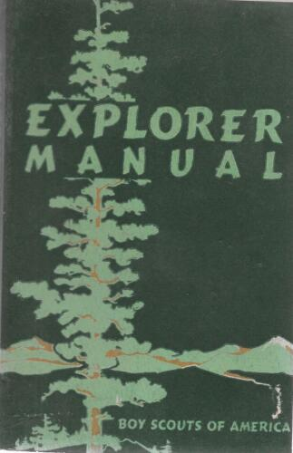 1950 Explorer Scout Manual Handbook Vintage Boy Scouts of America BSA Book