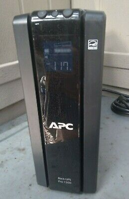 APC BR1500G Pro 1500 10 Outlet 1500VA Battery Backup Surge Protector w battery