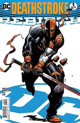 DEATHSTROKE REBIRTH #1 VARIANT COVER AUGUST 2016 DC COMIC BOOK NEW