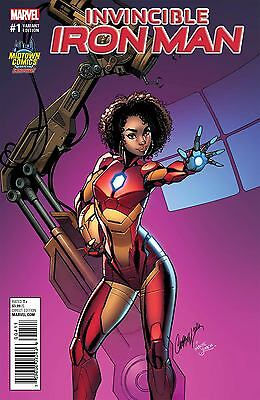 INVINCIBLE IRON MAN 1 J SCOTT CAMPBELL MIDTOWN RIRI ARMOR VARIANT NM PRE SALE