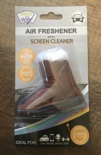 Fresh And Wipe Auto Air Freshener With Screen Cleaner New Car Scent