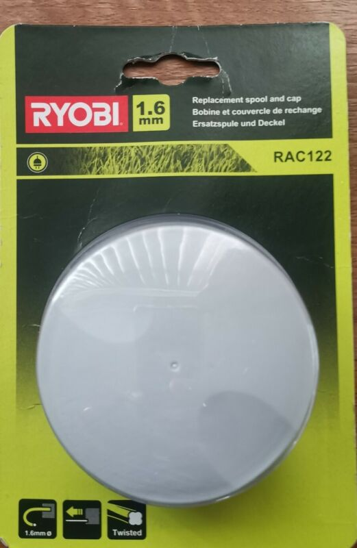 Ryobi+-+RAC122+Replacement+Spool+And+Cap+1.65mm+NEW+BOXED
