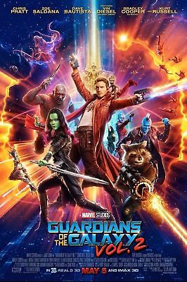 Guardians Of The Galaxy Vol 2 Movie Poster  24X36    Chris Pratt  Star Lord V4
