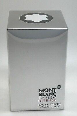 Mont Blanc Emblem Intense 3.3 / 3.4 Oz / 100 ml EDT Spray Sealed Cologne For Men