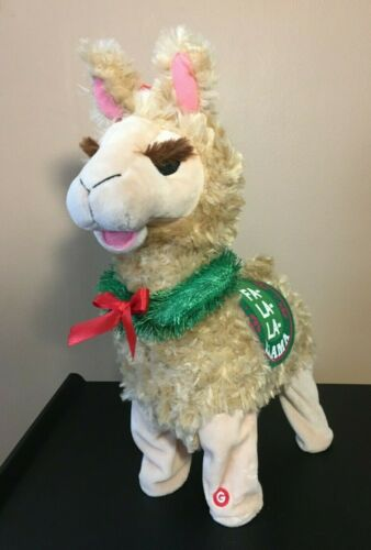 **Vintage GEMMY FA LA LA LLAMA ANIMATED DANCING SINGING LLAMA FIGURE CHRISTMAS