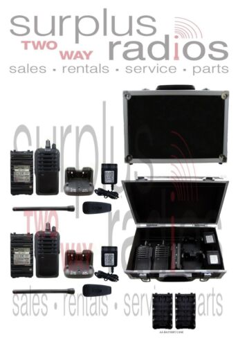 Padded aluminum carry racing case protects two way radios & accessories 36870