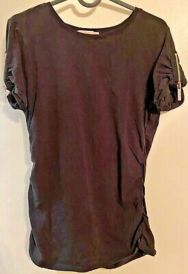 Michael Kors Women's Sinched Side Fitted T-Shirt - Size M