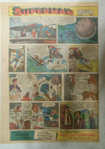 Superman Sunday Page #740 by Wayne Boring from 1/3/1954 Size ~11 x 15 inches
