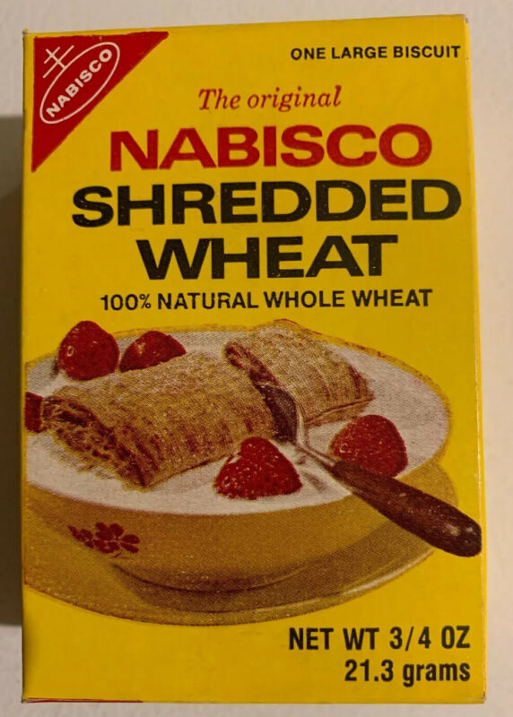 Vintage Original Shredded Wheat Cereal Box 1976 NOS Sealed Unopened Full