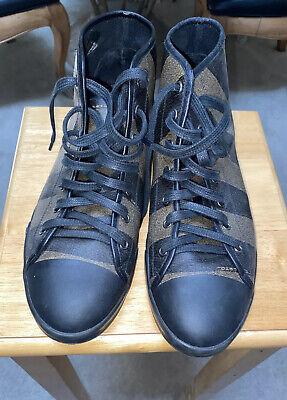 Fendi Men's Shoes Size 8 Black Brown Stripe Sneakers Preowned