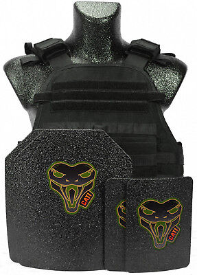 CATI AR500 Level III  Body Armor MOPC Carrier + ARMOR PLATES 4 pc set Fast Ship