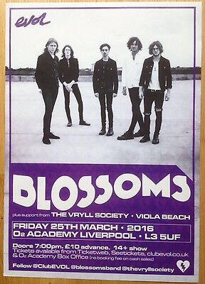 Blossoms/ Vryll Society/Viola Beach - Rare UK Tour Gig poster, March 2016