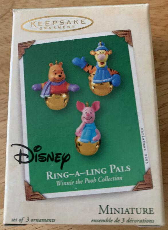 Hallmark Disney Ring-A-Ling Pals Winnie The Pooh 2003 Metal Ornaments Keepsake