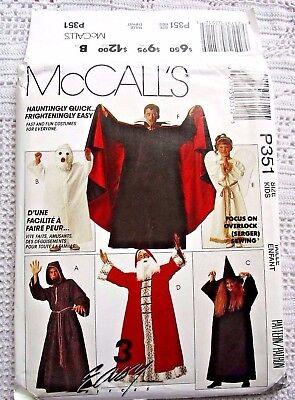 Monk Costume Pattern (400/351 SEWING PATTERN~UNCUT~COSTUME:BOYS&GIRLS SZ)