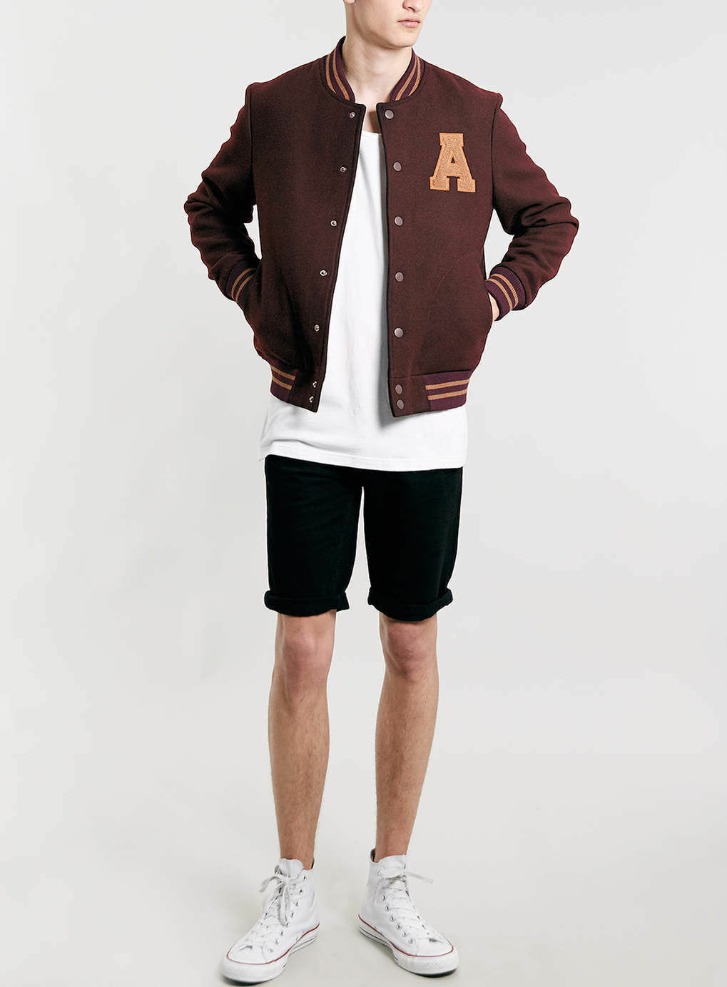 Mens leather gloves topman - The Topman Burgundy Bomber Jacket