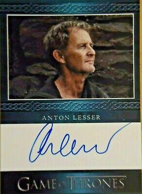 Game of Thrones Season 3 Anton Lesser Qyburn auto autograph card